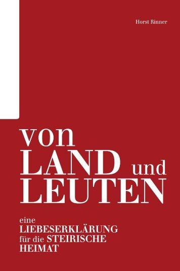 Von Land und Leuten – Eine Liebeserklärung ... - CM Medienverlag