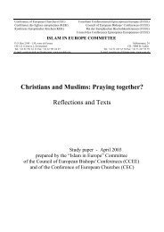 Christians and Muslims: Praying together - Churches in Dialogue ...