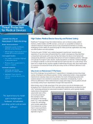Threat Protection for Medical Devices - Intel