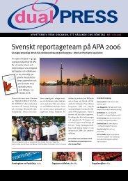 Svenskt reportageteam på APA 2006 - MSD