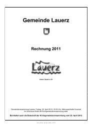 Rechnung 2011 - Gemeinde Lauerz