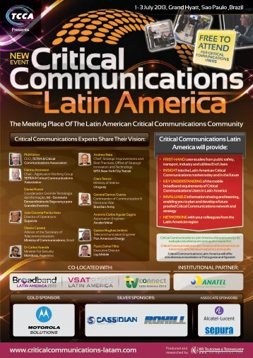 Critical Communications Latin America will provide