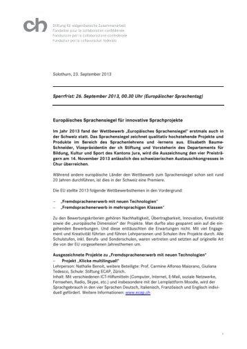 ch Stiftung Aktennotiz