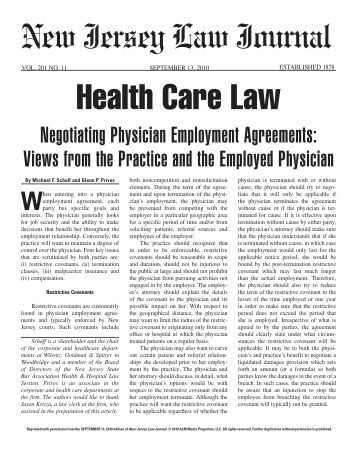 Physician Employment Agreements In The 21St Century: Part 1