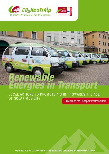 Renewable Energies in Transport - Alpine Space Programme