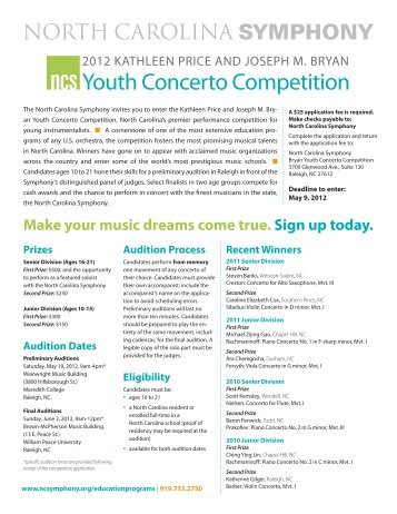 Youth Concerto Competition - North Carolina Symphony
