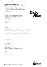 The Dairy Farm Company Ltd 5/F Devon House, Taikoo Place, 979 ...