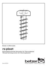 rs-plast - Schrauben Betzer GmbH & Co. KG