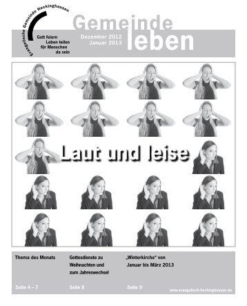 Gemeindebrief Heckinghausen 12/01 2012/2013 - Vereinigte ...
