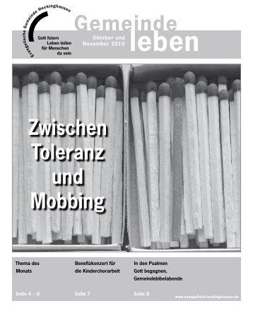 Gemeindebrief Heckinghausen 10+11/2010 - Vereinigte ...