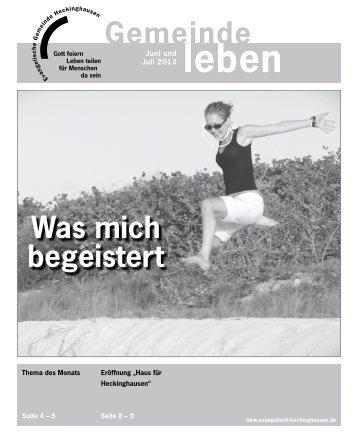 Gemeindebrief Heckinghausen 06 + 07/2013 - Vereinigte ...