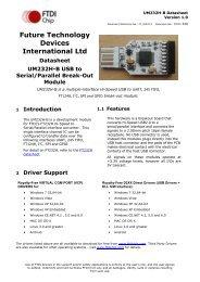 UM232H-B Datasheet - FTDI