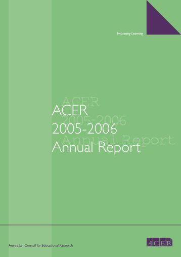 ACER 2005-2006 Annual Report