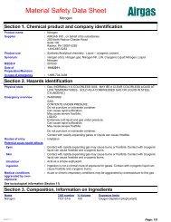 MSDS Sheet - Airgas.com