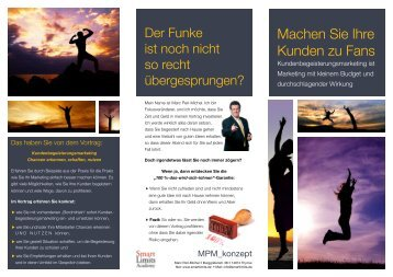 Flyer Kundenbegeisterungsmarketing