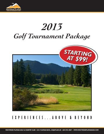 Download the Country Club 2013 Tournament Package - Westwood ...