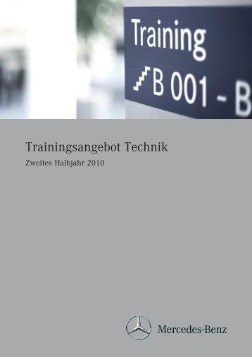 Trainingsangebot Technik - Mercedes-Benz Österreich