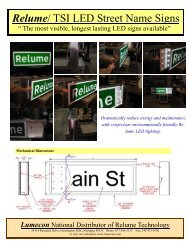 Relume-TSI LED Street Name Sign.pub - Temple, Inc.