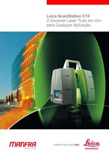 Leica ScanStation C10 O Escaner Laser Tudo em Um para ... - Manfra