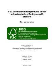 FSC-zertifizierte Holzprodukte in der schweizerischen Do-it ... - WSL