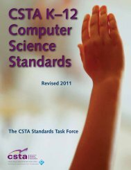 Download the CSTA K-12 Computer Science Standards. - ACM