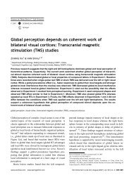Global perception depends on coherent work of bilateral visual ...