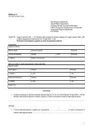 Modulo Richiesta Autorizzazione - Basilicatanet.it - Regione Basilicata