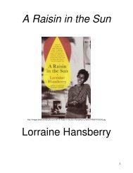 A Raisin in the Sun Lorraine Hansberry - Mona Shores Blogs