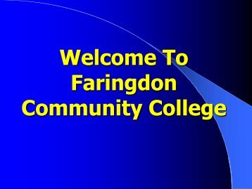 Part 1 - Faringdon Community College