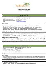 DISTRETTO DI LECCE (.pdf 178 Kb) - Centro Servizi Volontariato ...