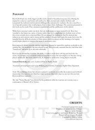 Foreword CREDITS: - Edition Svitzer