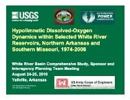 Hypolimnetic Dissolved-Oxygen Dynamics within Selected White ...