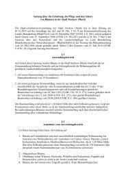 Satzung über die Erhaltung, die Pflege und den Schutz von Bäumen ...