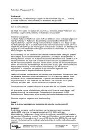 Raadsvoorstel - schriftelijke vragen - Leefbaar Rotterdam