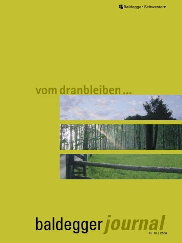 Vom Dranbleiben 10/2006 - Kloster Baldegg