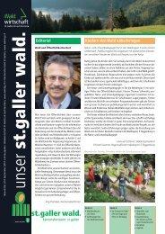 Newsletter 03 2010 - im St.Galler Wald - Kanton St.Gallen