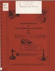 vil-r alaska power authority library copies please do not remove from ...