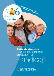 Guide CG06 handicap - Conseil général