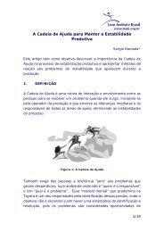 A Cadeia de Ajuda para Manter a Estabilidade Produtiva