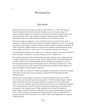 Download PDF (388 KB) - Tiffany & Co. For The Press