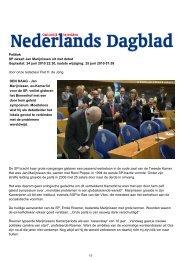 Verslag in het Nederlands Dagblad - Rijnland Weblog