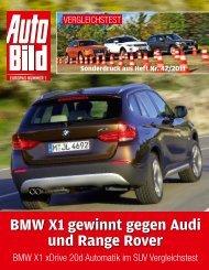 BMW X1 gewinnt gegen Audi und Range Rover
