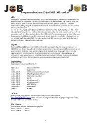 Programmabrochure 15 juni 2012 'JOB rondt af' - Deelnameregistratie
