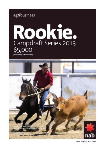 NAB Agribusiness Rookie Campdraft Series 2013