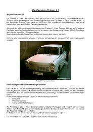 Kaufberatung Trabant 1.1 - Original-Trabant.de
