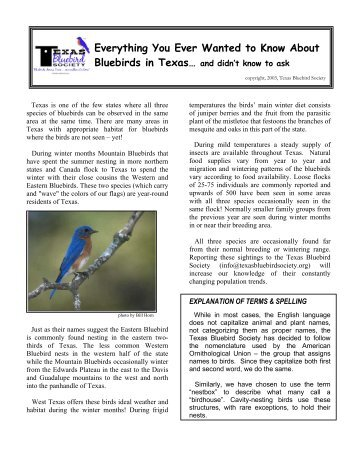 PDF (352KB) - Texas Bluebird Society