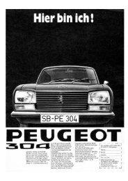 1970 - 304 Limousine - beim PEUGEOT 204/304 TEAM
