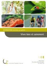 Vivre bien et sainement - UZ Brussel: Patientinfo