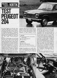 ams 21/1965 - beim PEUGEOT 204/304 TEAM