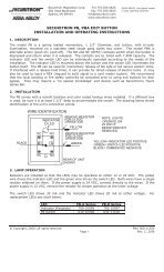 securitron pb, pba exit button installation and operating instructions ...